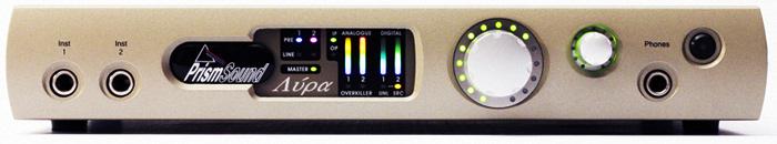 Lyra 2 recording interface front panel