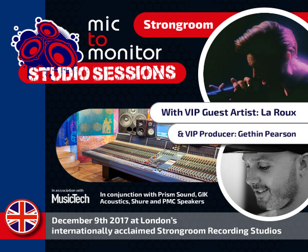 Mic to Monitor Strongroom Studio Session