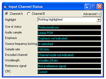 Digital Inputs Channel Status - simplified